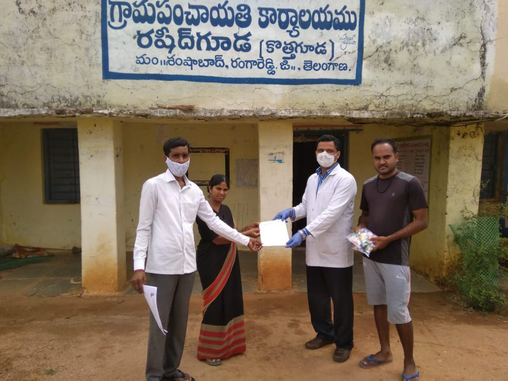 Distribution of Immunity boosters – Rasheedguda (2nd Phase)