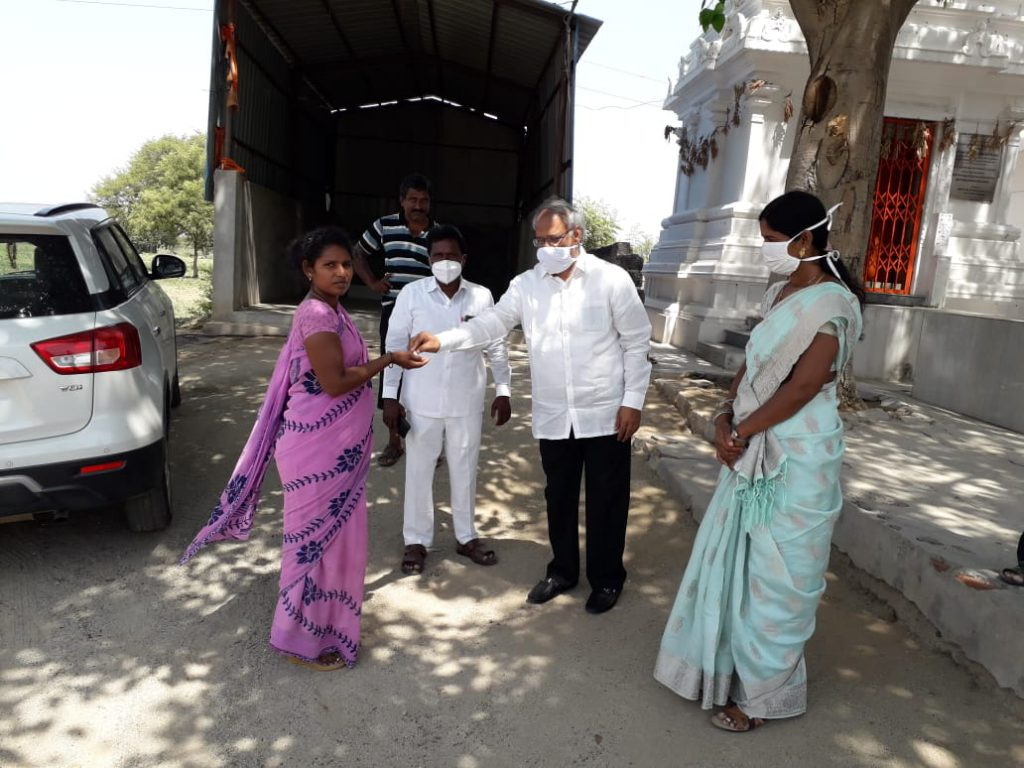 Distribution of medicines @ Venkammaguda