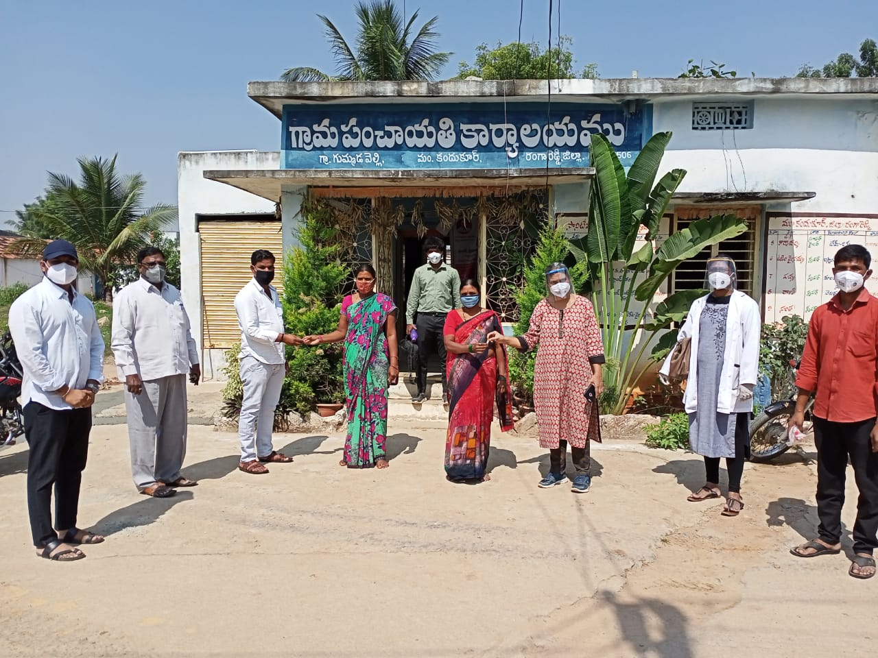IEC Poster Sticking, Rally and Medicine Distribution Programme at Gummadavelly Village of Kandukur Mandal