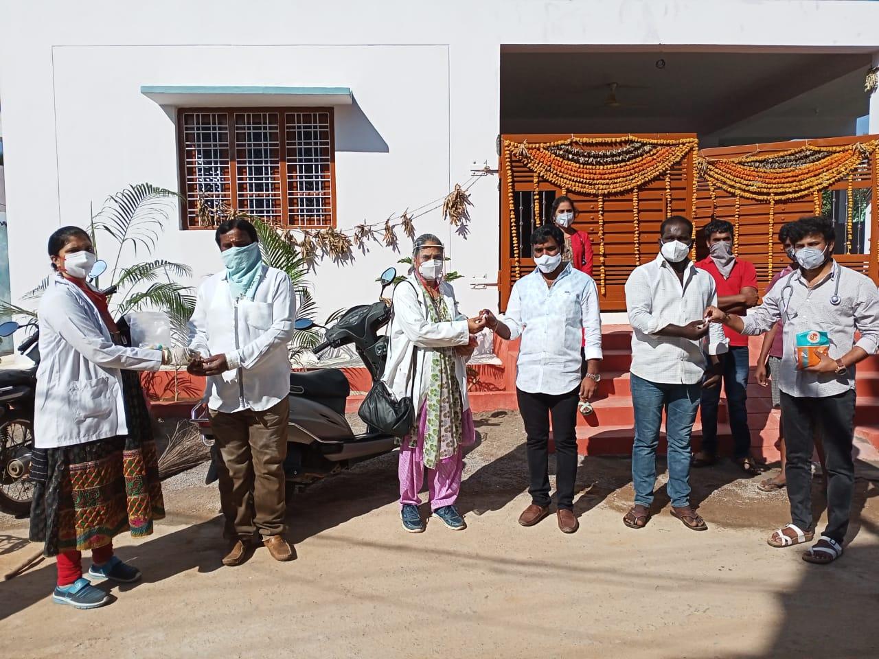 Janandolan campaign -An awareness rally and booster dose distribution programme at peddashapur village of Shamshabad mandal.