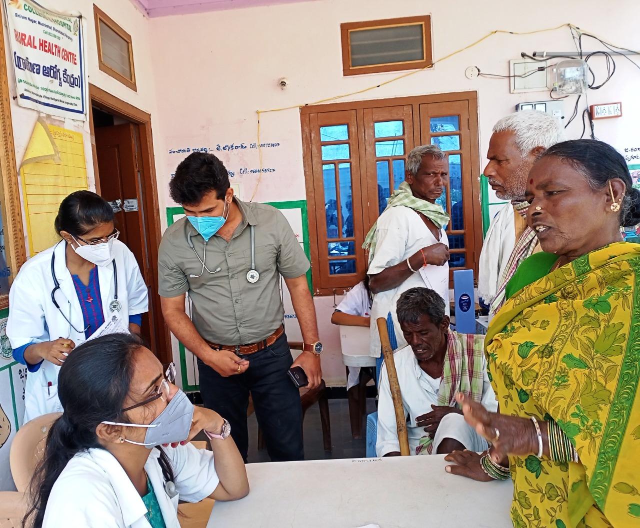 The Medical Camp was organised at Narsappaguda of Nandigama Mandal